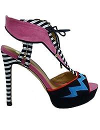EXE Shoes Sandalia Fantasía Tacón y Plataforma ... 70bb4e958028