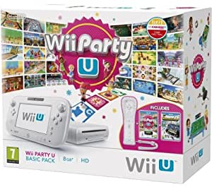 Wii U - Console 8 GB Wii Party U Basic Pack, Bianco [Bundle]