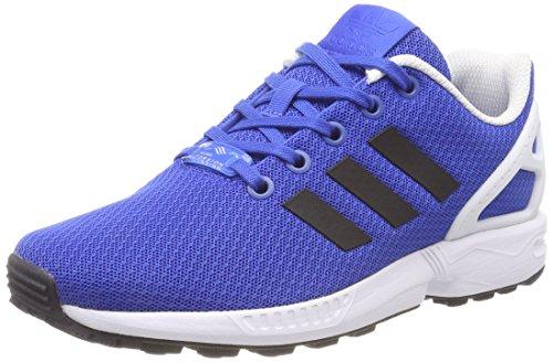 Adidas zx flux j, scarpe da ginnastica basse unisex-bambini, blu (blue/core black/ftwr white), 36 eu