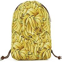 Zaino donna-Zainetto-Borsa in tela/disegno e modello esclusivo fatte a mano da El Taller de Mis Nubes/Sacco banana Fruit Food Festival/regalo donna-regali per lei-regali mamma