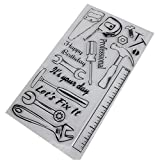 ECMQS Handcraft Tool DIY Transparente Briefmarke, Silikon Stempel Set, Clear Stamps, Schneiden Schablonen, Bastelei Scrapbooking-Werkzeug