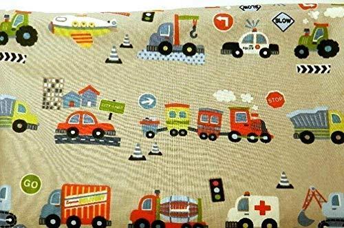 Babydecke - AUTOS, LASTER, TRAKTOR, BAGGER - 100 x 70 cm - Baumwolle & Fleece - personalisierbar -...