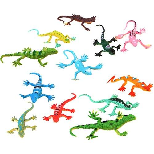 Power Ferhd Modell Kunststoff Lizard Figuren Kinder Spielzeug Set von 12pcs Multi-Color