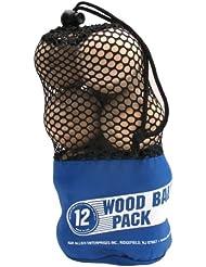 A&R Wood Hockey Balls 12 pack (Mesh Bag)