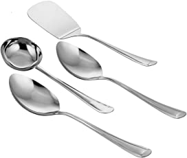 Classic Essentials Stainless Steel Ladle Set, Set of 4, 31cm, Silver
