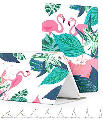 GVIEWIN 9.7 ipad hülle 2018/2017, Ultradünn Smart Case Cover mit Ständer und Auto Schlaf/Wach Funktion Abdeckung Schutzhülle für iPad 9.7''6/5 Generation, Flamingo/Grün -