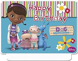 Unique Party Baby-Walz La Vela de cumpleaños McStuffins Doc Hacer Pasteles, Multicolor