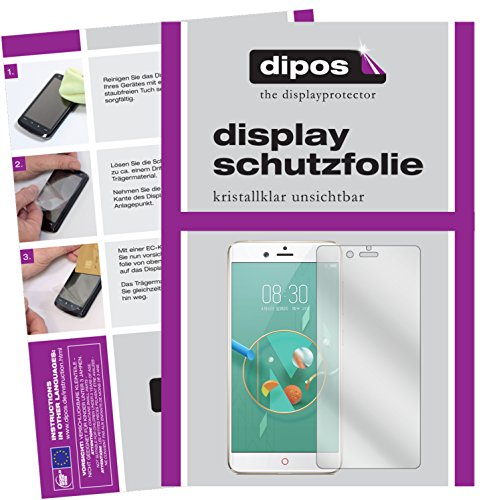 dipos I 2X Schutzfolie klar passend für Nubia Z17 Mini Folie Bildschirmschutzfolie