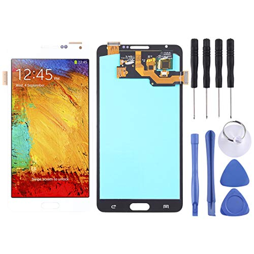 Repair Spare Parts Ersatz-LCD-Bildschirm und Digitizer Full Assembly (OLED-Material) for Galaxy Note 3, N9000 (3G), N9005 (3G / LTE) (Schwarz) (Color : Weiß) (Galaxy Note 3 Ersatz-bildschirm)