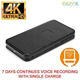 Inovics 4K Spy Voice Recorder 7 Days Continues Voice Recording with Single Charge Store 15 Days Data Within 32gb Memory Card Hidden Audio Recorder with Long Battery Backup for Home/Office/Car