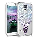 kwmobile Samsung Galaxy S5 / S5 Neo Hülle - Handyhülle für Samsung Galaxy S5 / S5 Neo - Handy Case in Blau Violett Transparent