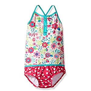 Hatley Mädchen Einteiler Color Block Swimsuit