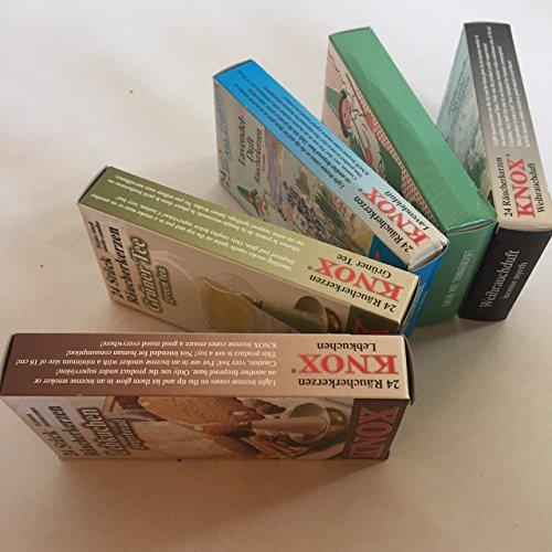 Knox 5er Set Original Räucherkerzen: Lebkuchen, Grüner Tee, Lavendel, Tanne, Weihrauchduft