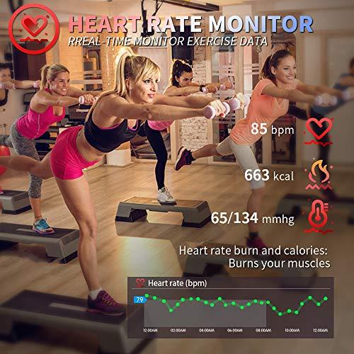 Imagen de hofit pulsera actividad reloj inteligente fitness tracker podómetro monitor de sueño contador de calorías pasos rastreador de ejercicios reloj salud pulsera deportiva para mujeres hombres alternativa