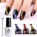Born Pretty 3Pcs 5ml Nail Art Cat Eye Nail Polish Gel Chameleon Magnetic Soak Off UV Gel Lacquer With Magnet Board
