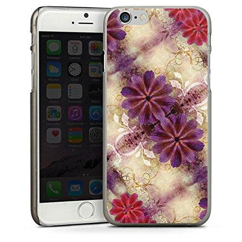 Apple iPhone 4 Housse Étui Silicone Coque Protection Ornements Abstrait Fleur CasDur anthracite clair