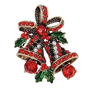 Bongles Strass-Broschen Weihnachtsbaum-Brosche Damen Kinder-Beutel-Kleidung Dekorative