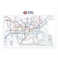 stika.co Standard London Underground Tube Station Map Poster - 200gms Poster Paper (November 2018 revision, A1-841 x 594mm)