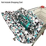 Ainstsk Einkaufswagenbezug für Babys, Babywagen, 2-in-1, Einkaufswagen-Sitzbezug, Hochstuhl-Bezug, Sicherheitsgeschirr für Baby Kleinkind Jungen Mädchen