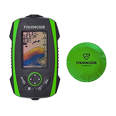 Wireless Portable Fish Finder Fishfinder with Sonar Sensor Depth Fish Detector Transducer and 100M LCD colors Display