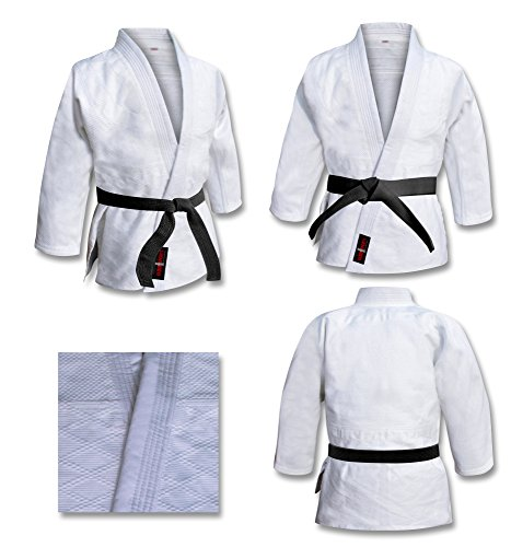 V.Sports Judoanzug, Judo-Anzug, Weiß Gebleicht, Kids Judo Anzüge, Erwachsene Judo Kimono. weiß Judo Training Farben (3/160cm Erwachsene)