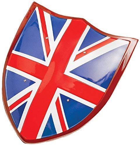 Jungen Union Jack Flagge Großbritannien Britische Ritter Schild Königliche Hochzeit Party Feiern Kostüm Kleid Outfit ()