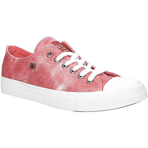 Big Star Sneaker | Flache Sportschuhe für Damen | Low Top Turnschuh Textil Sport Schuhe EUR 36-41 - Rot - EUR 40 Big Star Schuhe