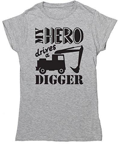 HippoWarehouse Damen T-Shirt Grau