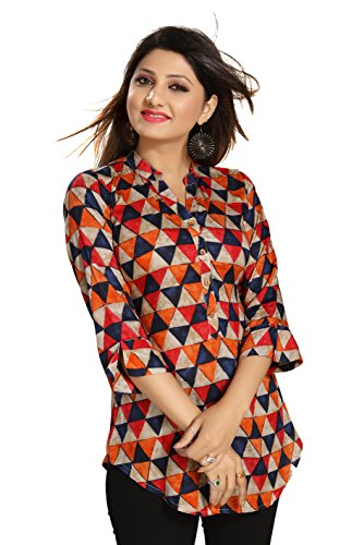 ALC Creation Women's A-Line Kurta (ALC2099-M_Multi-Coloured_Medium)