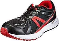 Fila Mens Element II Black and Red Running Shoes - 7 UK/India (41 EU)