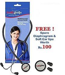 Healthgenie Dual Aluminum Non Chill Stethoscope HG-201G (Grey)...