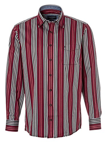 CASAMODA Herren Businesshemd langarm Regular Fit Rot
