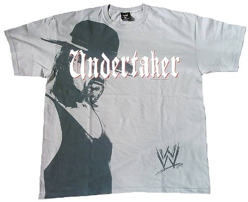 WWE WORLD WRESTLING ENTERTAINMENT Herren T-Shirt Grau UNDERTAKER Picture Bild Official Merchandise Superstar Rock Star ViP Rockstar Club Design XL 56 (The Rock Wwe T-shirt)