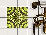 Bad-Fliesen Mosaik-Fliesen | Muster-Aufkleber Folie Sticker Küchenfolie Wanddeko | 10x10 cm Design...