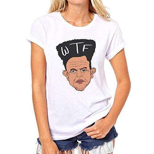 Graffitti Hip Hop Rap WTF Afro Damen T-Shirt Weiß