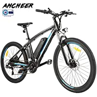 "ANCHEER Elektrofahrrad Ebike Mountainbike, 26""/27.5"" Elektrisches Fahrrad mit 36V 8Ah/10Ah/12.5Ah Lithium-Batterie und Shimano 21-Gang"