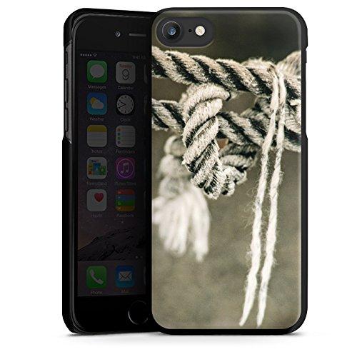 Apple iPhone X Silikon Hülle Case Schutzhülle Seil Seefahrt Knoten Hard Case schwarz