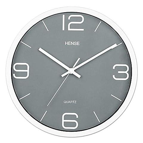 HENSE 12 Inches Modern Stylish Elegant Silent Non-ticking Wall Clock,