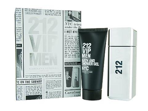 Carolina Herrera 212 VIP Men 100 ml Eau de Toilette Spray plus 100 ml Bath und Shower Gel Geschenkset für Ihn, 1er Pack (1 x 100 (Grün Wodka)