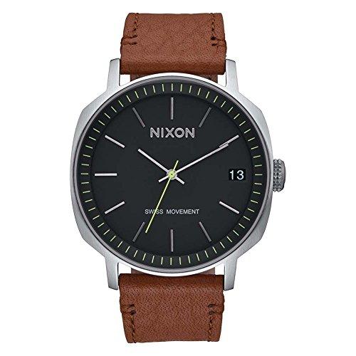 Nixon Herren Analog Quarz Uhr mit Leder Armband A973-000-00