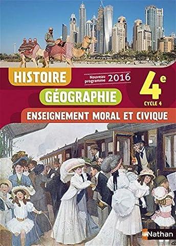 Histoire-Géographie-EMC 4e - Nouveau programme 2016