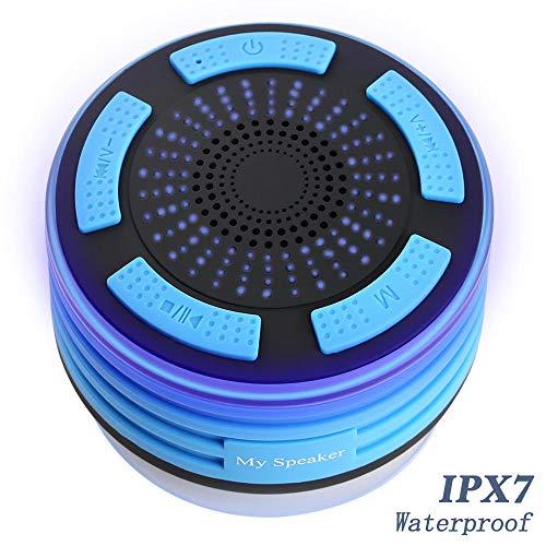 YWSZY Led Bluetooth Lautsprecher Wasserdicht Ipx7 Tragbare Duschsäule Duschradios Super Bass Stereo Modell Außenlautsprecher Mit Mikrofon @ A