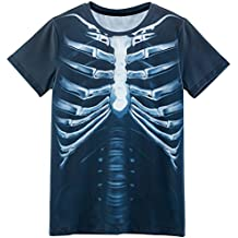 Funny World Disfraz Costume de Esqueleto T-Shirts Camisetas Para Hombre tc3KG4f