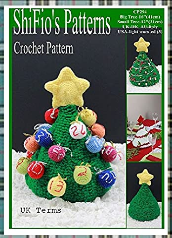 Crochet pattern - CP294 - Christmas Tree Advent Calendar, Table Decoration - 2 sizes - UK