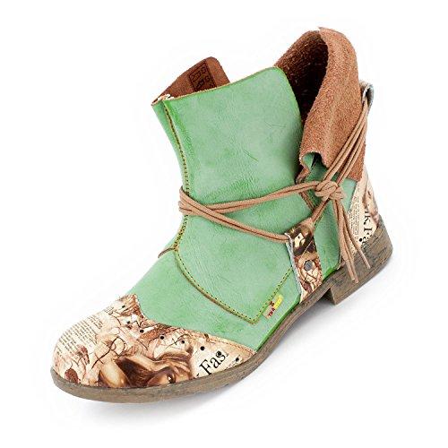 TMA Damen Boots, Apfelgrün - 39 (Stiefel Schnee Damen Größe 8)
