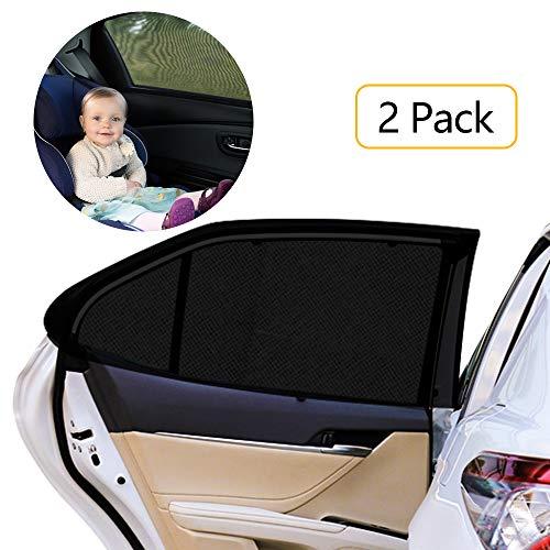 Autofenster Sonnenschutz Heckscheibe,HWeggo sonnenschutz auto baby mit uv schutz für Kinder Hund im Rücksitz- ohne Saugnapf Sonnenschutz ist für die meisten mittelgroße Autos Seitenscheiben passgenau