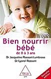 Bien nourrir son bébé: De 0 à 3 ans