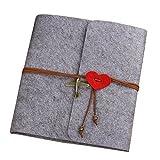 Yalulu Handgemachte Fotoalbum, Scrapbook Zum Selbstkleben Notizbuch Gästebuch, DIY, Vintage Style (L, Grau)