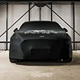 softgarage schwarz slim fit indoor atmungsaktiv car cover black breathable special edition with logo print
