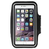DFV mobile - Armband Berufsausrüstung Armbandtasche Sport Reflektierende Wasserabweisende aus Neopren Premium für=> HOMTOM HT30 PRO > Schwarz